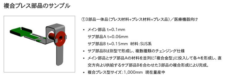 複合プレス部品のサンプル|株式会社鈴木