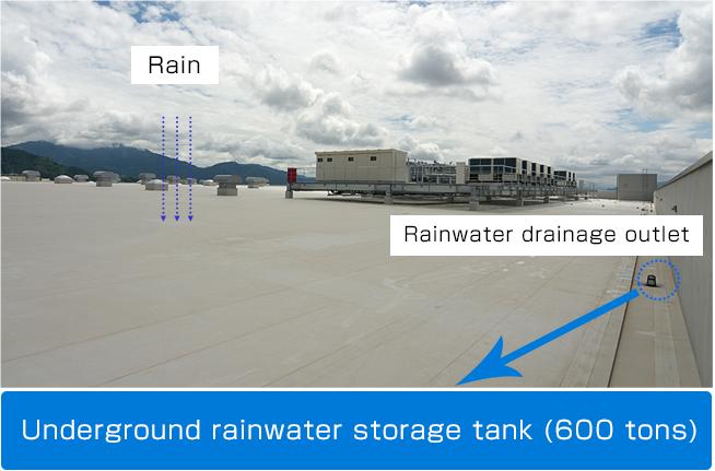 Reuse of rainwater