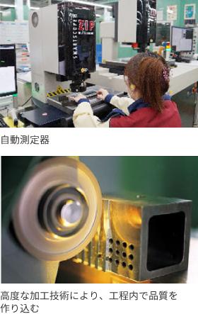 自動測定器 高度な加工技術により、工程内で品質を作り込む